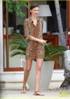 Miranda Kerr - Leggy in leopard print dress -05