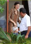 Miranda Kerr - Leggy in leopard print dress -07