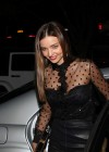 Miranda Kerr in leather dress out in NYC -01