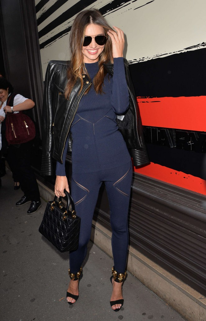 Miranda Kerr - Sonia Rykiel Fashion Show 2015 in Paris