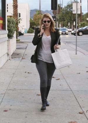 Mischa Barton in Spandex Leaves Milk Restaurant in LA