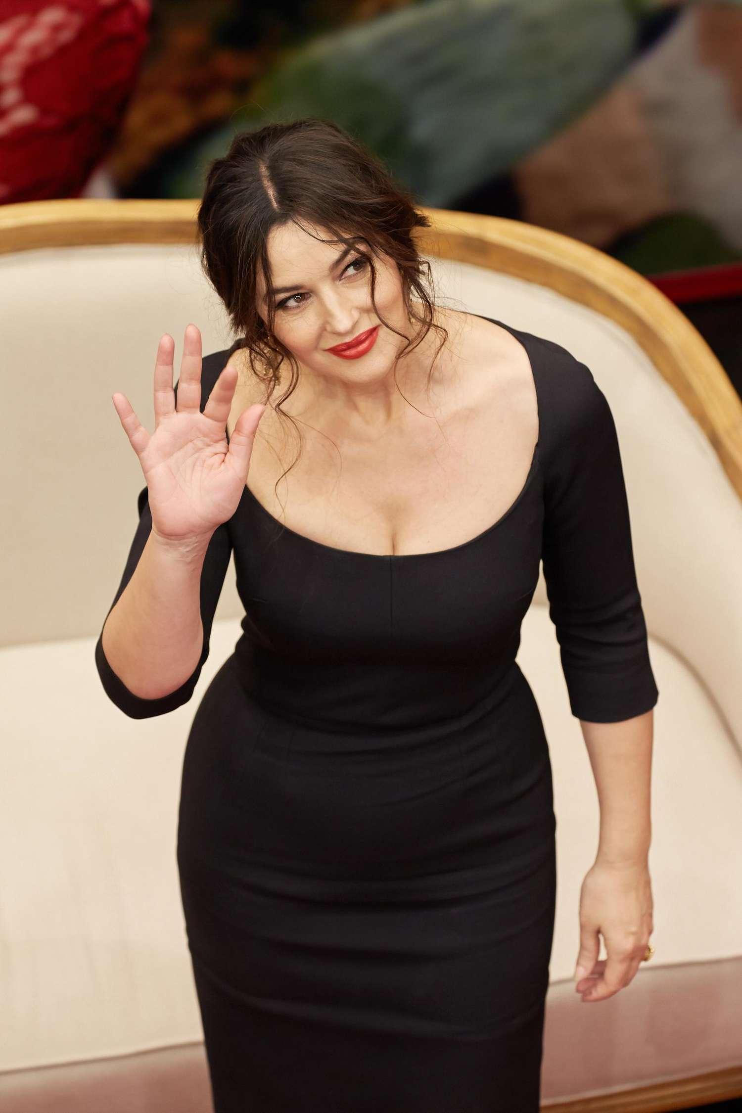 Monica Bellucci – Attends at Dolce & Gabbana Photocall at TSUM in Moscow | GotCeleb