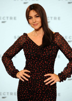 Monica Bellucci - Bond 24 Photocall at Pinewood Studios in England