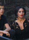 Monica Bellucci - Cleavage Candids On The Set of Dolce and Gabbana-10