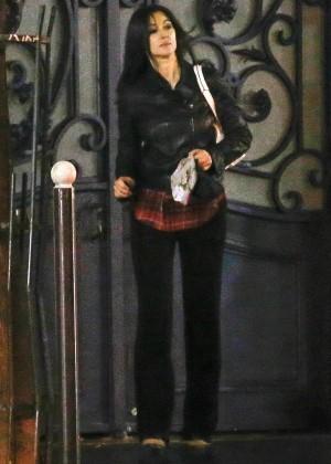 Monica Bellucci Leaving her Hotel in Paris