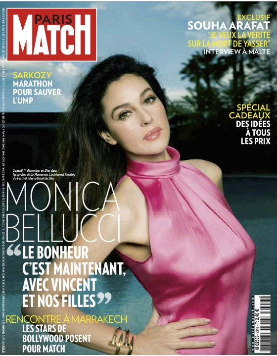 Monica Bellucci - Paris Match Magazine Photoshoot December 2012