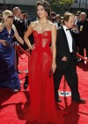 Morena Baccarin hot in red at Creative Arts Emmy Awards 2012