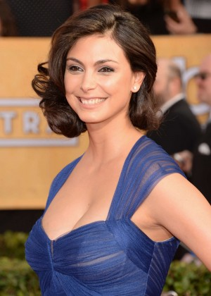 Morena Baccarin: 2014 SAG Awards In A Blue Dress -03