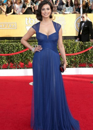 Morena Baccarin: 2014 SAG Awards In A Blue Dress -05