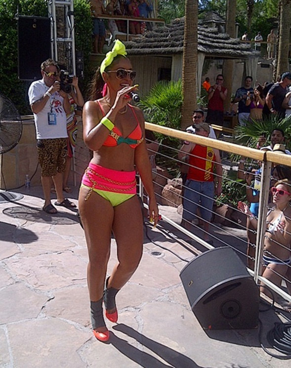 Mya Harrison     In Bikini performing Hard Rock Beach Club   Full Size