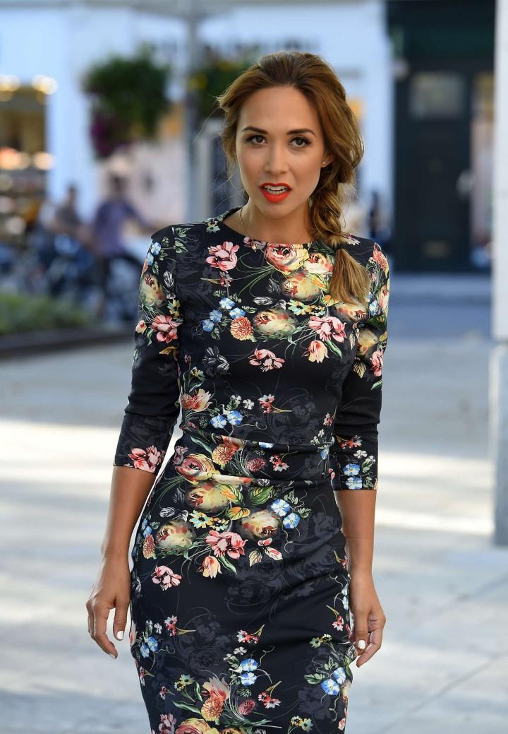 Myleene Klass in Floral Dress at Debate Mate Summer Gala in Chelsea