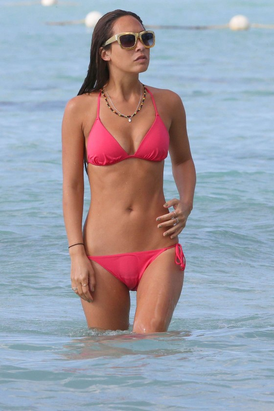 Myleene Klass Red Bikini In Barbados-09