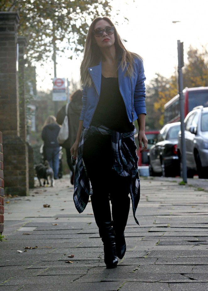 Myleene Klass out in London