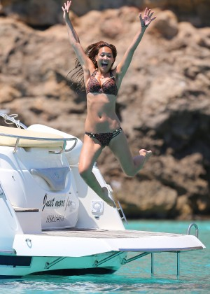 Myleene Klass Wearing Bikini on a Boat in Ibiza