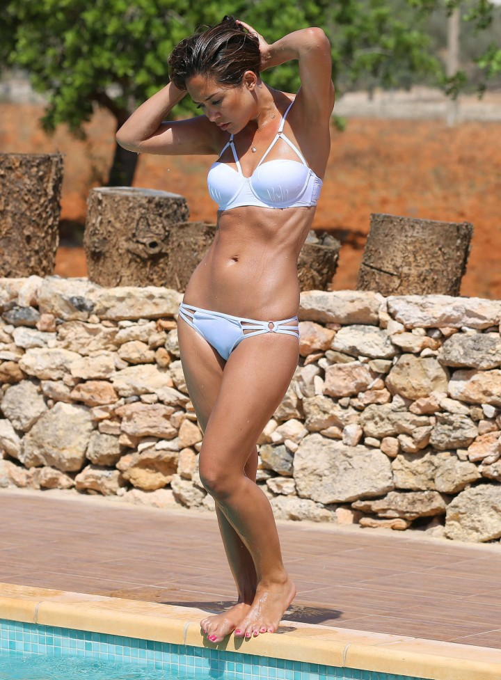 Myleene Klass - Wearing White Bikini On Holiday