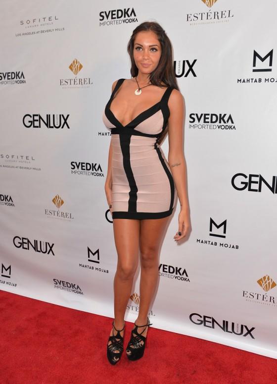 Nabilla Benattia Photos: 2013 Genlux Magazine Party -03 ...