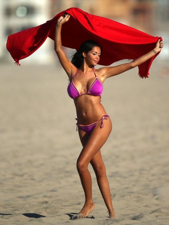 Nabilla Benattia Bikini – Venice Beach -15