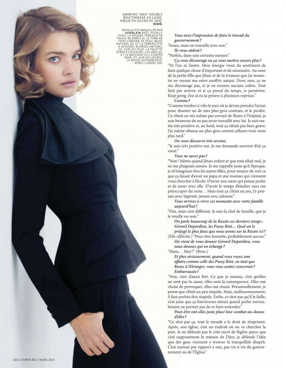 Natalia Vodianova – LOfficiel Magazine – March 2013 -02
