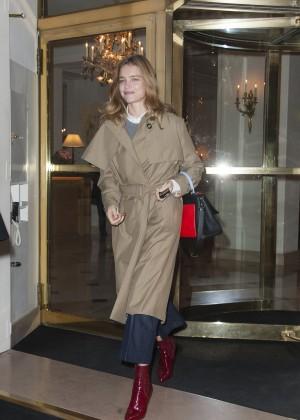 Natalia Vodianova - Leaving The Bristol Hotel in Paris