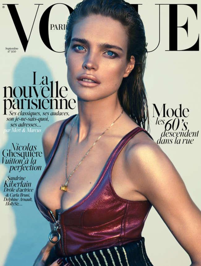 Natalia Vodianova - Vogue Paris Cover Magazine (September 2014)