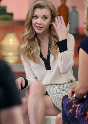 Natalie Dormer on Good Morning America in NYC