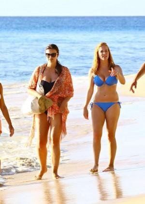 Natalie Pinkham Amp Sarah Jane Mee Wearing Bikini In