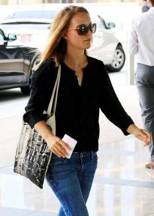 Natalie Portman Wearing Jeans - at the Creative Artists Agency in LA