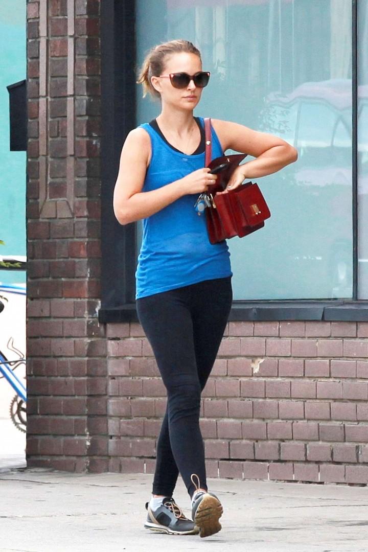 Natalie Portman Yoga Pants