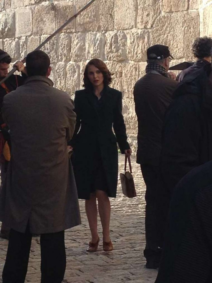 """Natalie Portman On The Set of """"Tale of Love and Darkness"""" in Jerusalem"""