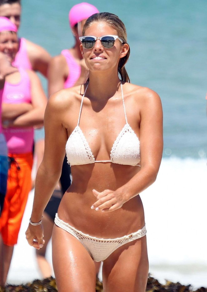 Natasha Oakley – Wearing Bikini on the Bondi Beach