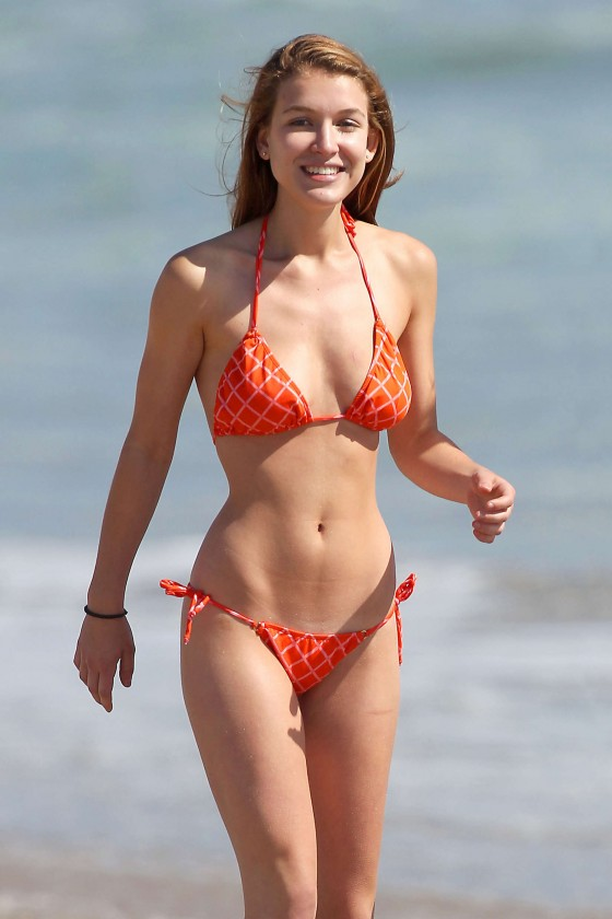 Nathalia Ramos - Bikini on the beach in L.A.