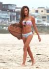 Naya Rivera - wearing a bikini at a beach in Malibu -03
