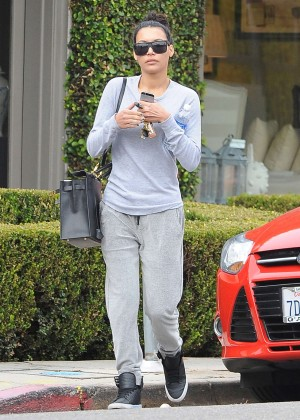 Naya Rivera in Sweats Out in West Hollywood