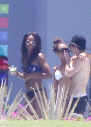 Naya Rivera bikini in Cabo -15