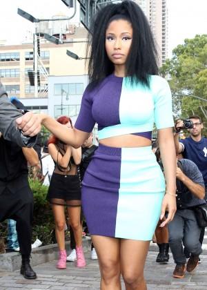 Nicki Minaj - Arriving at the Alexander Wang Fashion Show in NYC