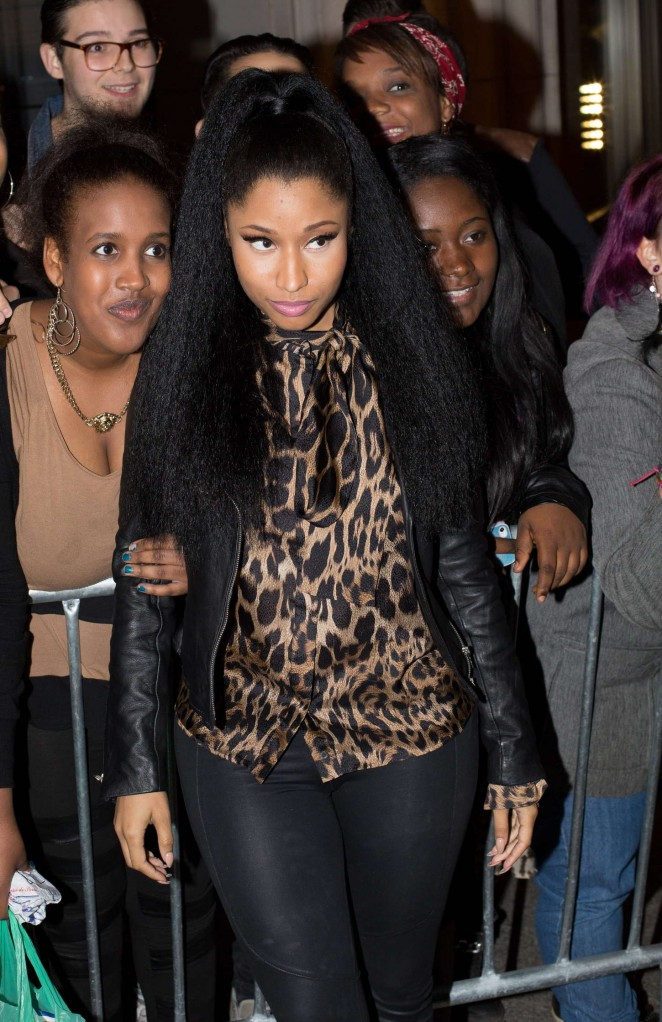 Nicki Minaj in Tight Pants out in Paris
