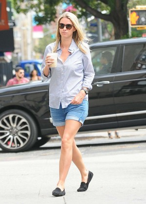 Nicky Hilton in Jeans Shorts Out in New York City