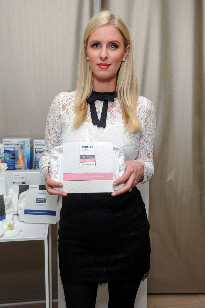 Nicky Hilton - Promoting Philips Sonicare and Philips Zoom in NYC