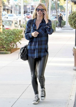 Nicky Hilton in Leather out in Beverly Hills