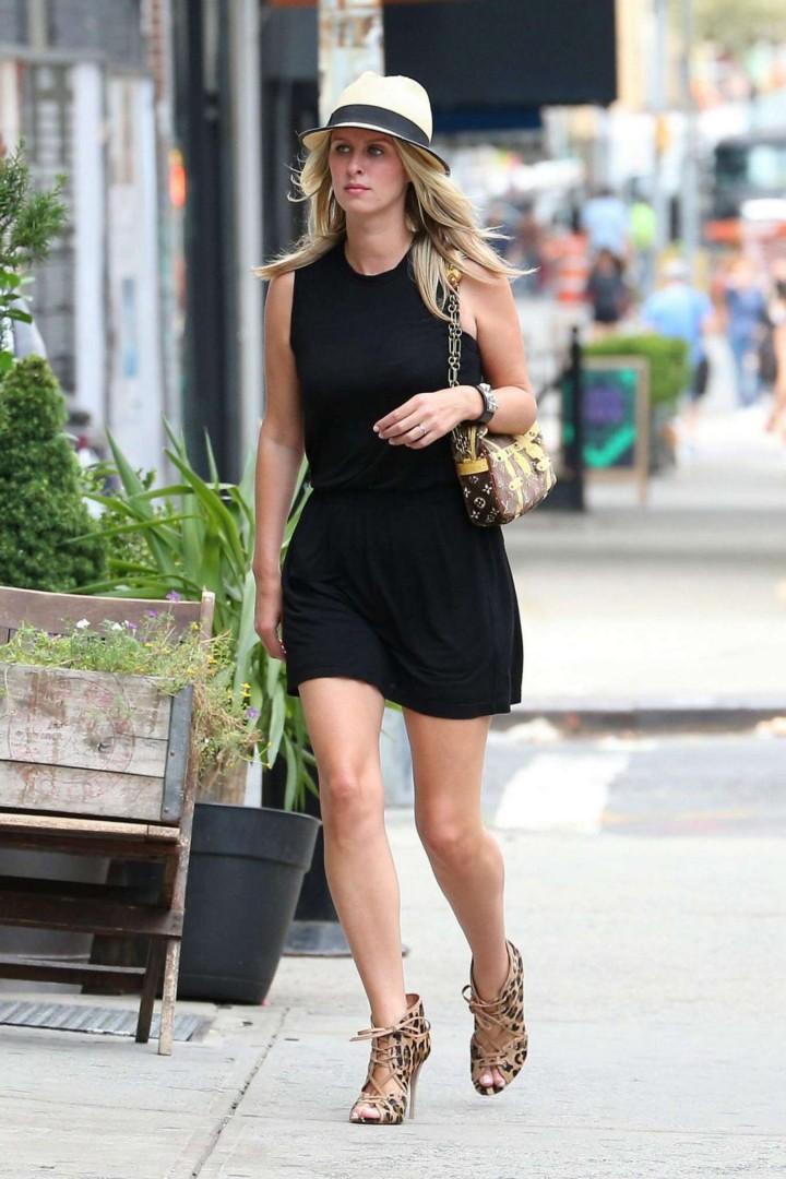 Nicky Hilton in Black Short Dress -01