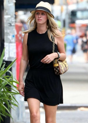 Nicky Hilton in Black Short Dress Out in New York