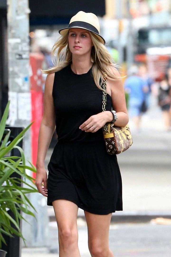 Nicky Hilton in Black Short Dress -03