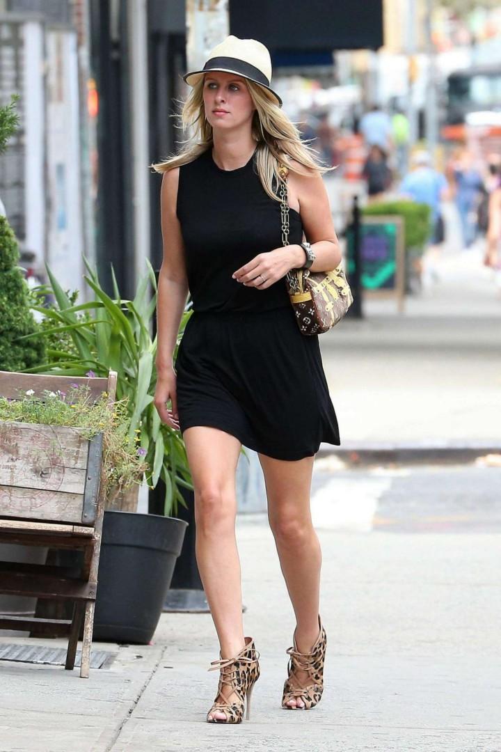 Nicky Hilton in Black Short Dress -06