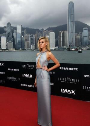 Nicola Peltz in silver dress-04