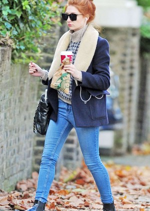 Nicola Roberts in Tight Jeans Out in London