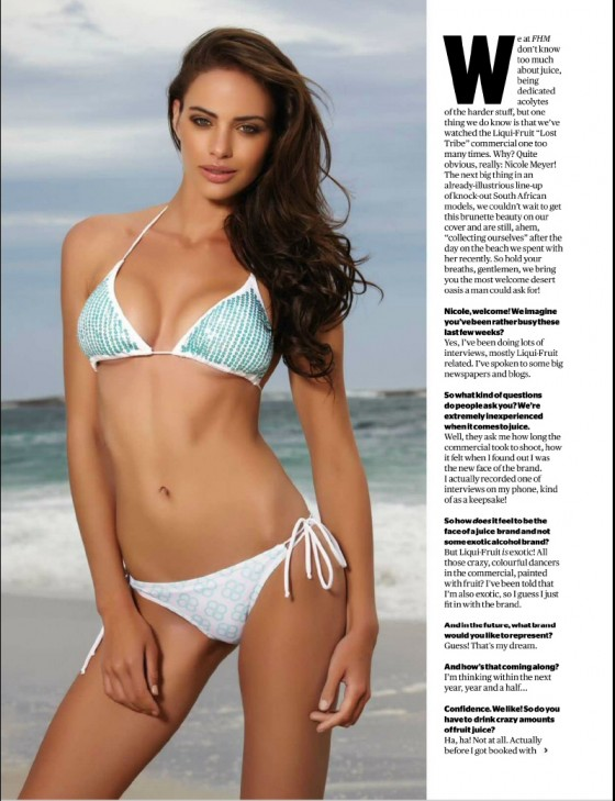 Nicole Meyer for FHM South Africa January 2013