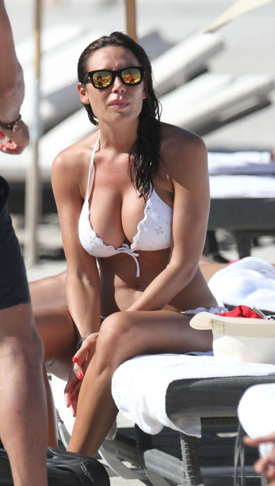 Nicole Minetti - Wearing White Bikini in Miami