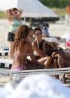 Nicole Mitchell and Claudia Jordan - Bikinis Candids in Miami -08