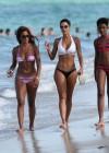 Nicole Mitchell and Claudia Jordan - Bikinis Candids in Miami -09