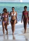 Nicole Mitchell and Claudia Jordan - Bikinis Candids in Miami -26
